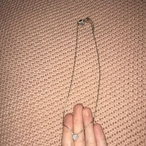 Rose gold small circle necklace
